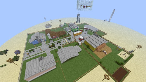 Nuke Town zombies part 2 call of duty pvp Minecraft server Island PVP and SkyBlock