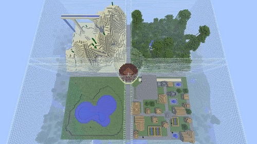 Four Season PVP Minecraft server Island PVP and SkyBlock